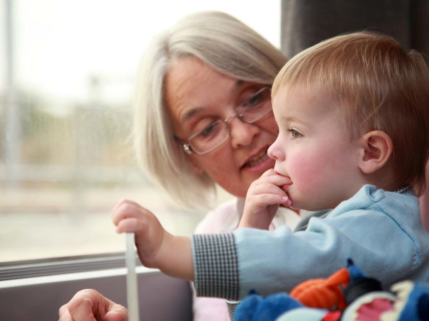 Grandmother and Grandson Baby on Eurostar