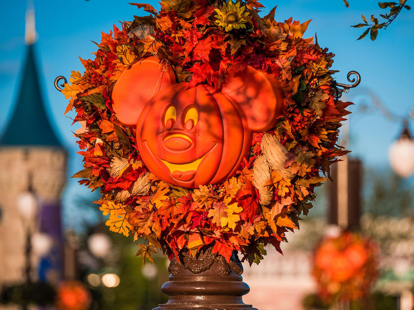 Disney World Halloween Decor