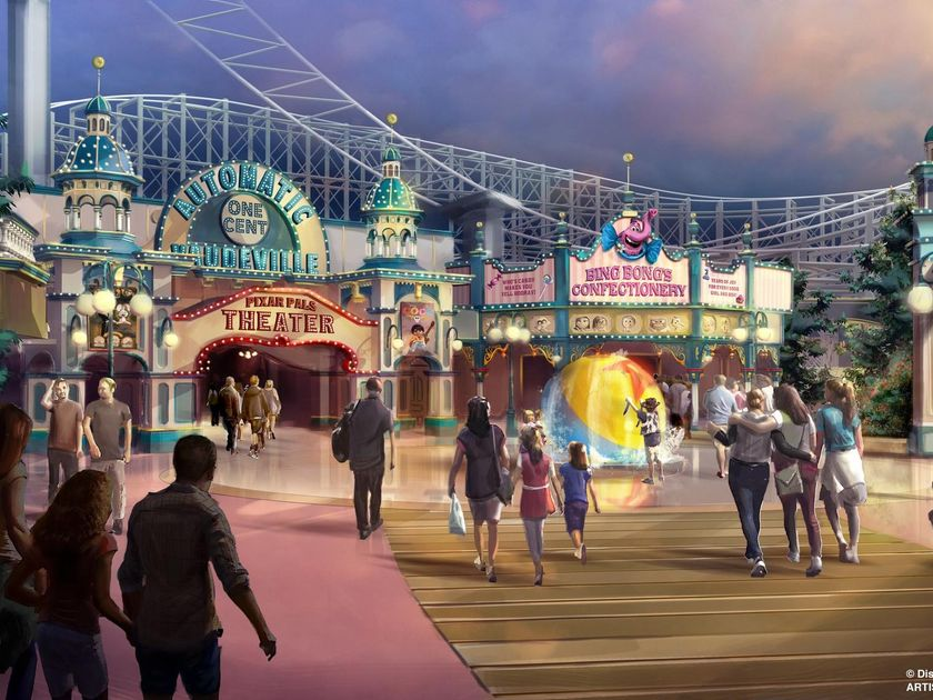 Pixar Pier Addition To Disney Land
