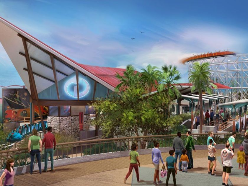 Pixar Pier Addition To Disney Land Incredibles