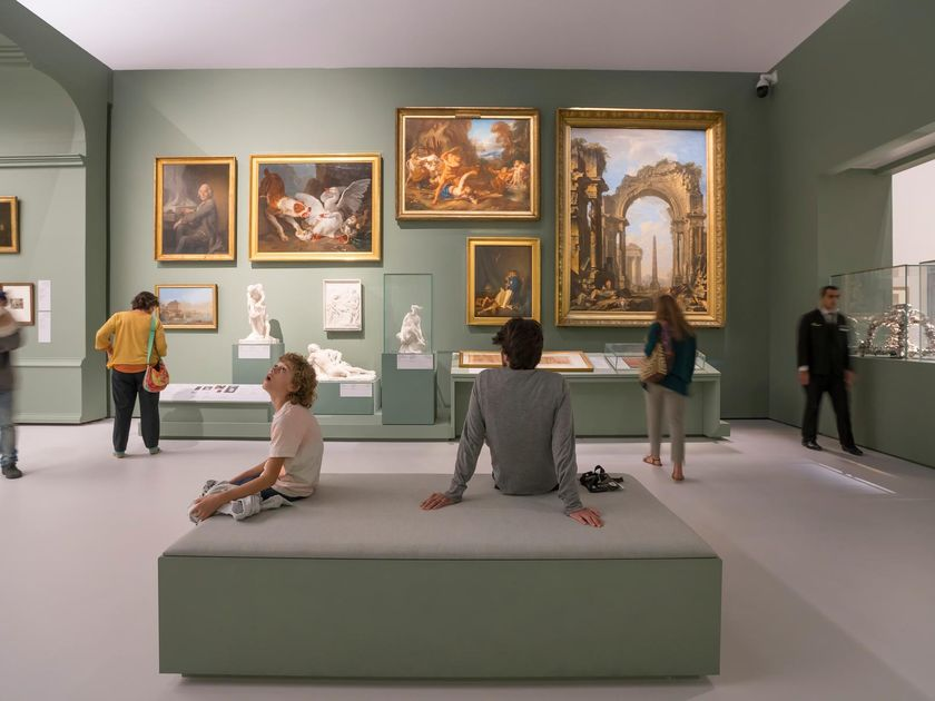 People at the Louvre Museum in Abu Dhabi