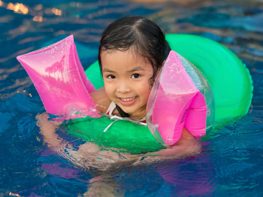 Pool floats and water safety