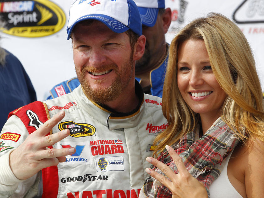 Dale Earnhardt Jr and Wife Amy Reimann