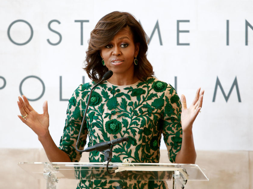 Michelle Obama Green Dress