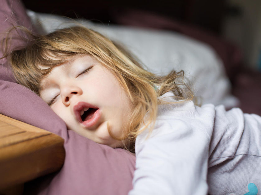 Young Girl Sleeping Mouth Open Snoring