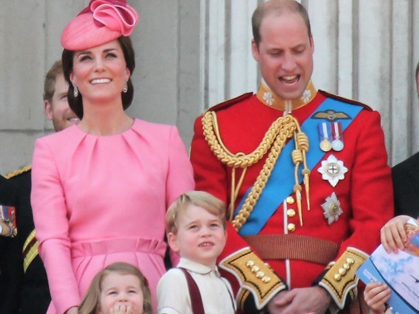 Kate William and Princess Charlotte Prince George