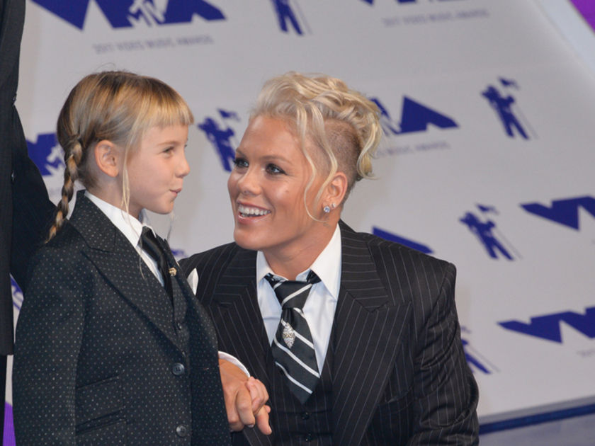 Pink and daughter Willow at VMAs
