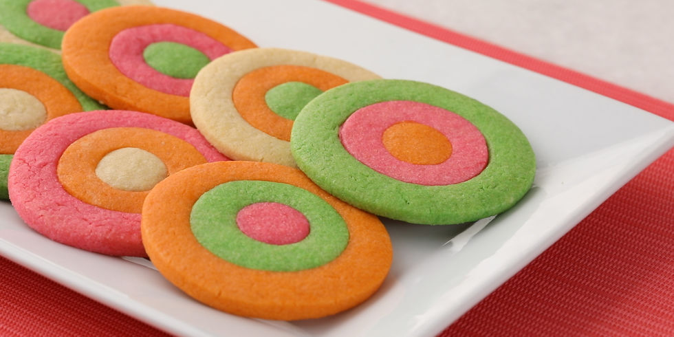 raindbow ring cookies still