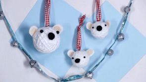 How to Make Polar Bear Ornaments
