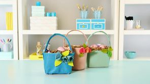Quick and Easy Easter Craft: Upcycled Felt Baskets