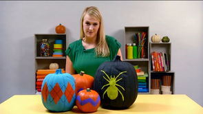 How to Make Painted Pumpkins