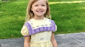Girl Wears 67-Year-Old Dress To First Day Of Kindergarten_still