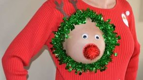 These 'Sexy Ugly Christmas Sweaters' Are Actually Too Perfect for Breastfeeding Moms_still