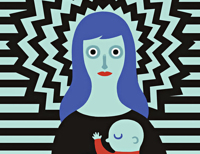 New Mom Stress Anxiety Illustration