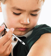 child with diabetes