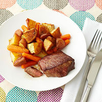 steak potatoes and carrots