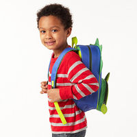 child wearing backpack