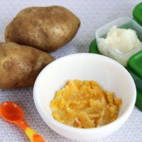 squash and pootato puree baby food