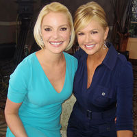 Nancy O'Dell and Katherine Heigl