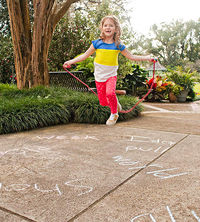 child jumping rope