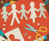 Clippings of paper family