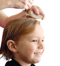 checking for head lice