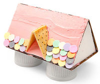 Doll house cake roof