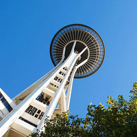 Space Needle photo that crosses p. 72/73