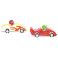 Wooden Pull-back Race Cars