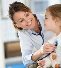 child with doctor