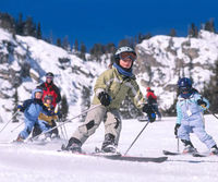 Kids skiing in Jackson Hole
