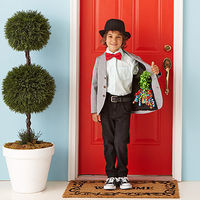 kid at front door