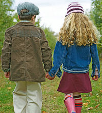 Boy and Girl Holding Hands