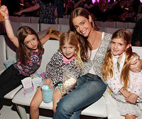 Denise Richards with girls Eloise, Lola, and Sami