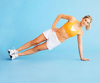 modified side plank, step 1