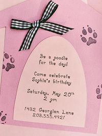 Pretty Pretty Poodles Birthday Invitation