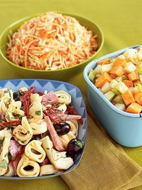 Italian Tortellini Salad, Two-Potato Salad, Napa Coleslaw