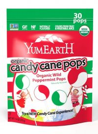 yumearth organic candy cane pops