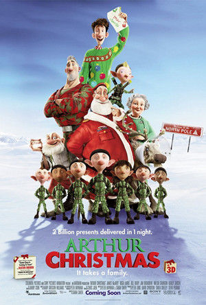 Arthur Christmas Movie Poster 2011