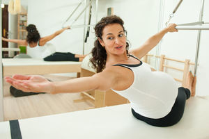 pregnant woman exercising