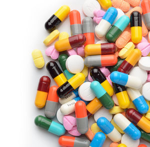 colorful medication pills