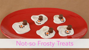 not so frosty the snowman instructions for making a snowman christmas treat