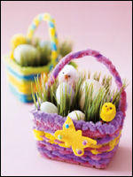 Easter crafts easy easter craft ideas for kids parents making mini easter baskets negle Image collections