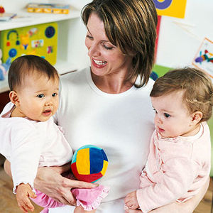 Daycare provider with children