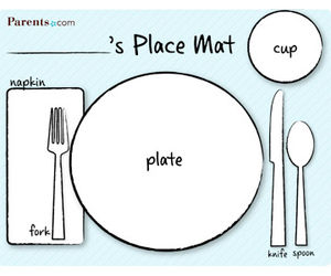 photograph regarding Printable Placemats for Preschoolers identify Preschool Printables - Flashcards, Designs, Game titles and Extra