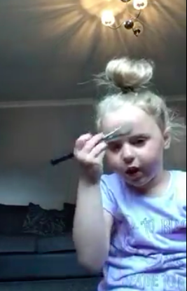 Five-Year-Old Nails Her First Makeup Tutorial