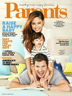 Parents magazine June 2014 cover Nick Vanessa Camden Lachey