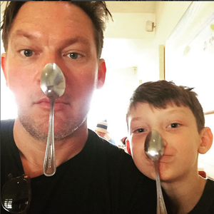 Tyler Florence and son