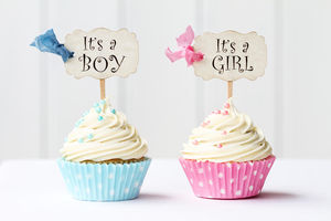 it's a girl it's a boy cupcakes