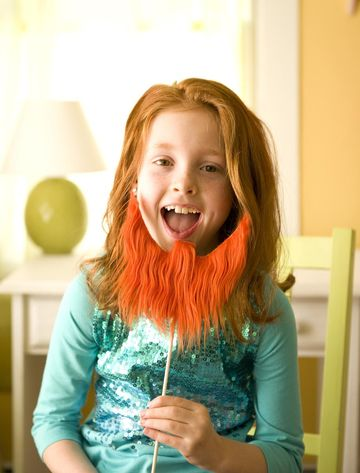 Girl with leprechaun beard